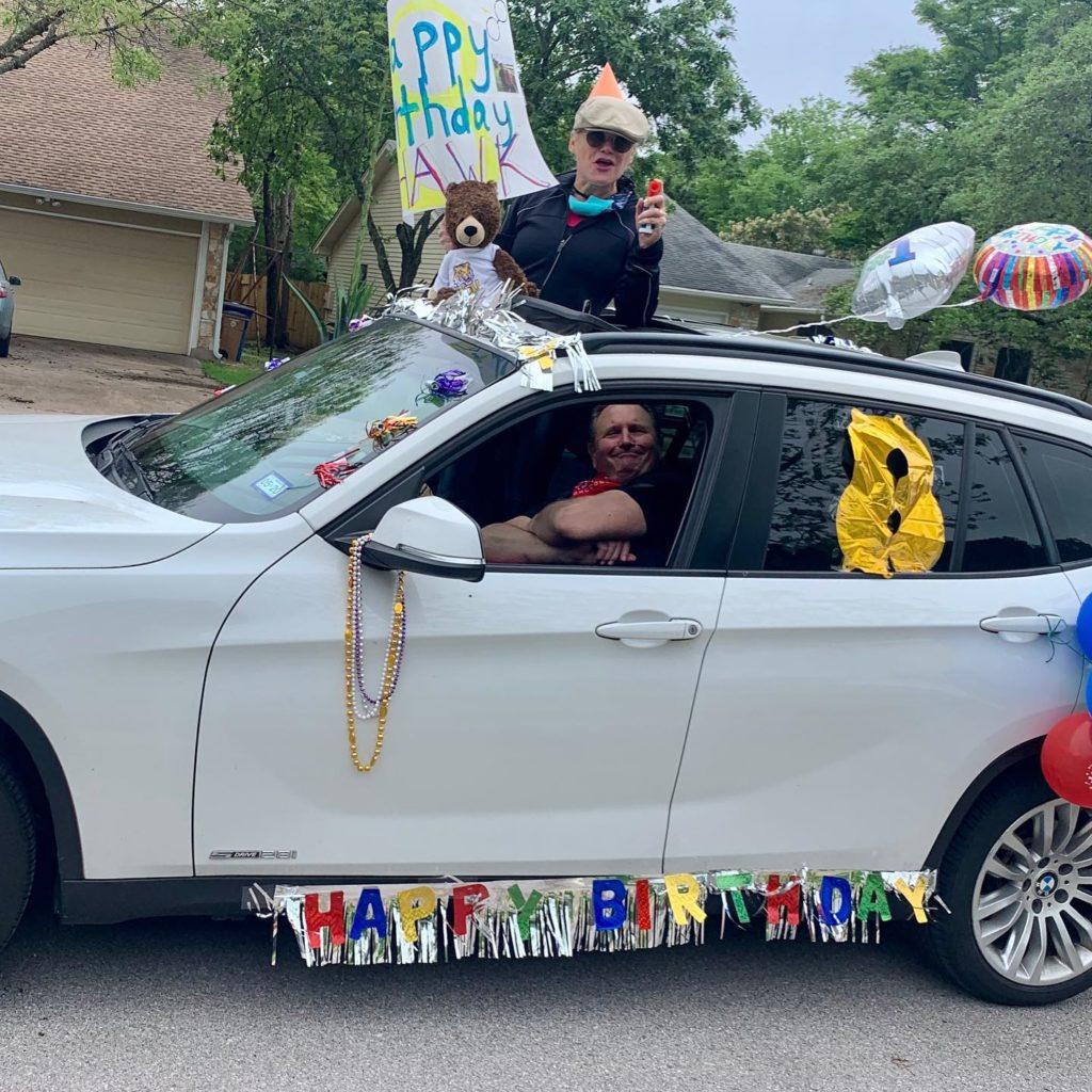 social distancing birthday party parade