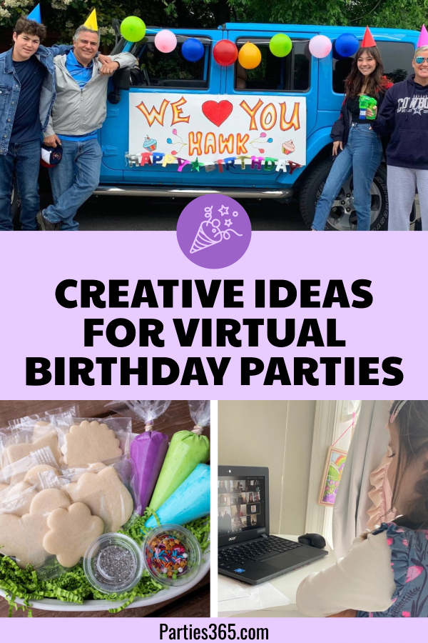 creative ideas for virtual birthday parties