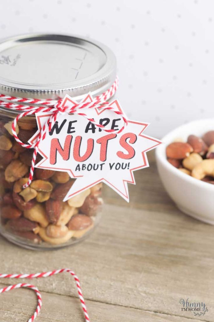 mixed nuts father's day gift tag