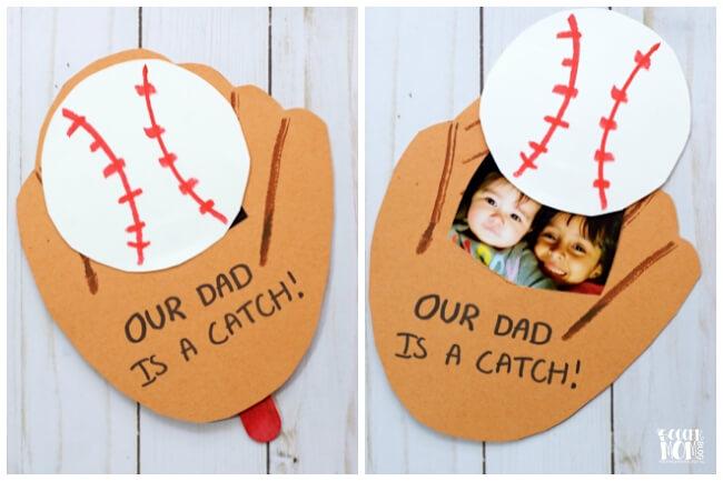 DIY baseball fathers day card
