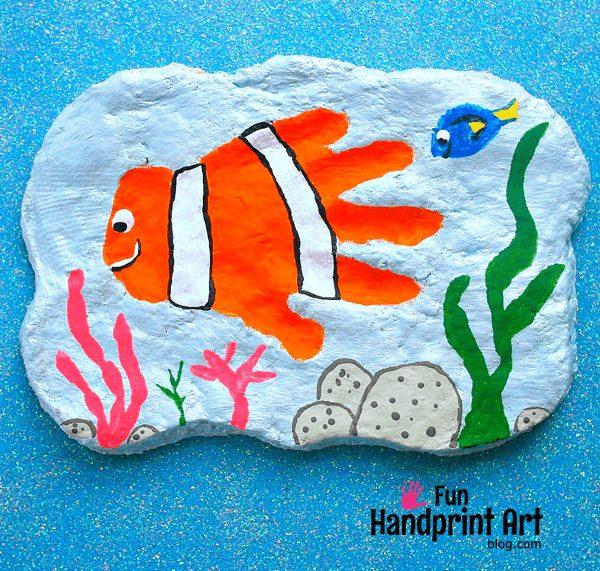 finding nemo handprint craft