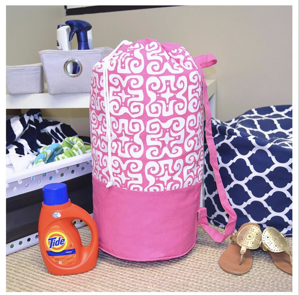 monogrammed laundry bag graduation gift
