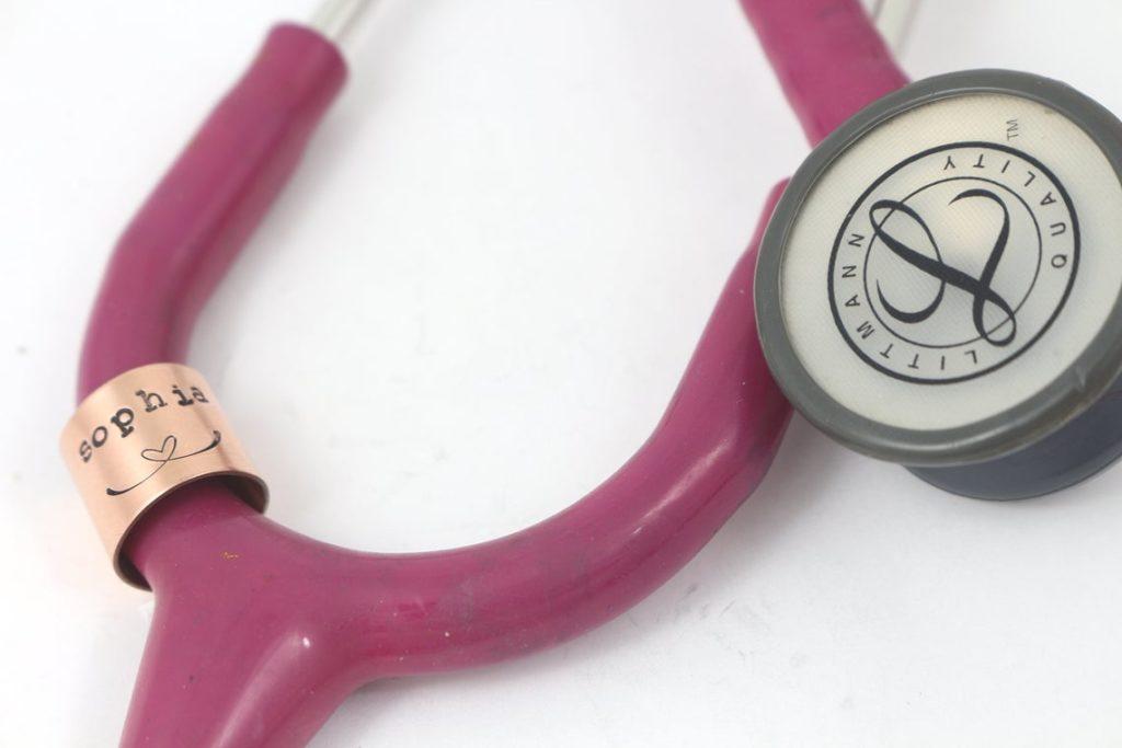 stethoscope name charm graduation gift