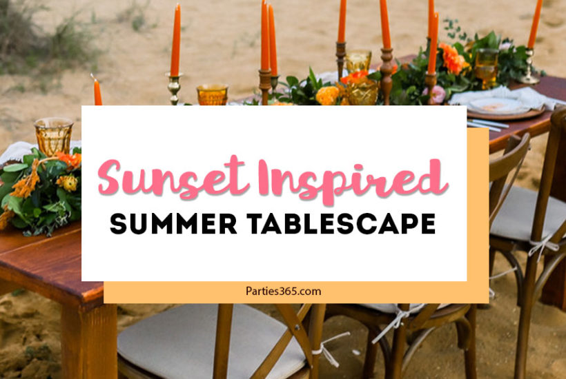 sunset inspired summer tablescape