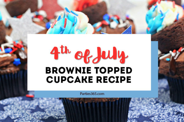 4th of july brownie topped cupcake recipe