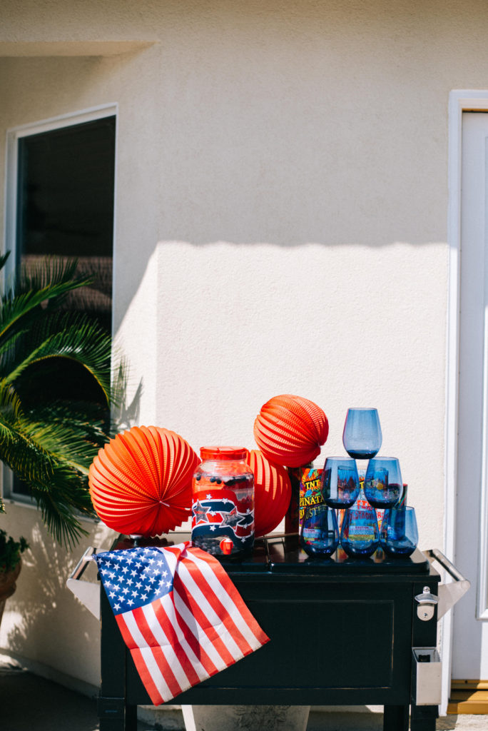 4th of july drink station
