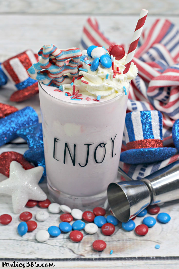 frozen 4th of july ice cream cocktail