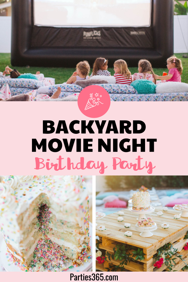 backyard movie night birthday party