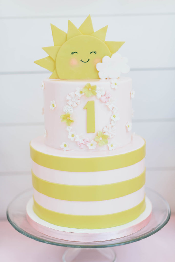 sunshine first birthday cake