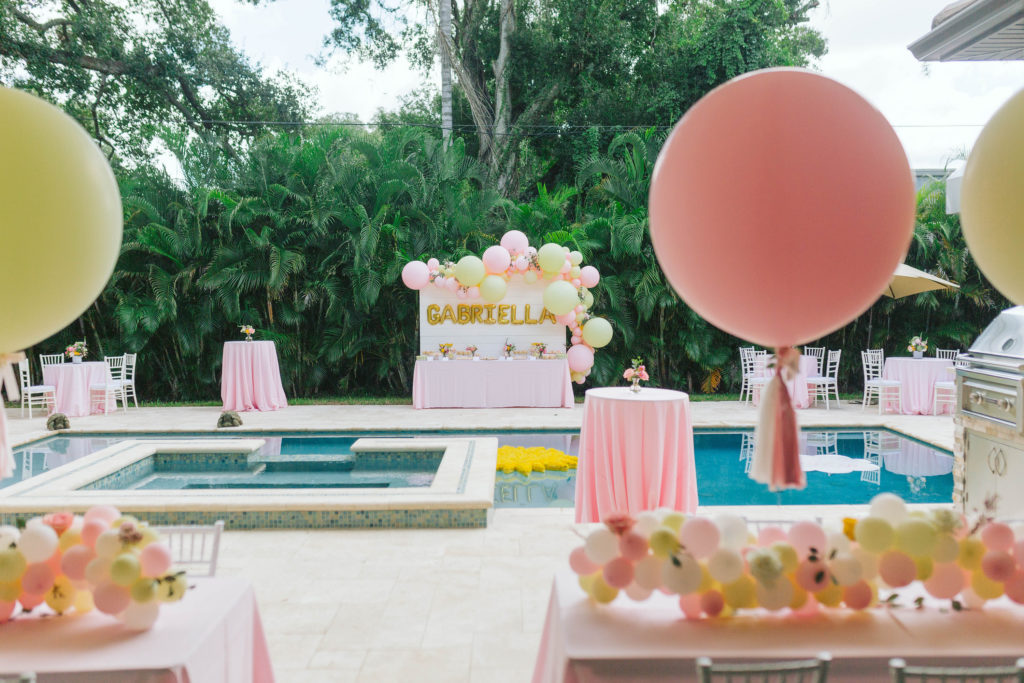 sunshine dessert table for first birthday party