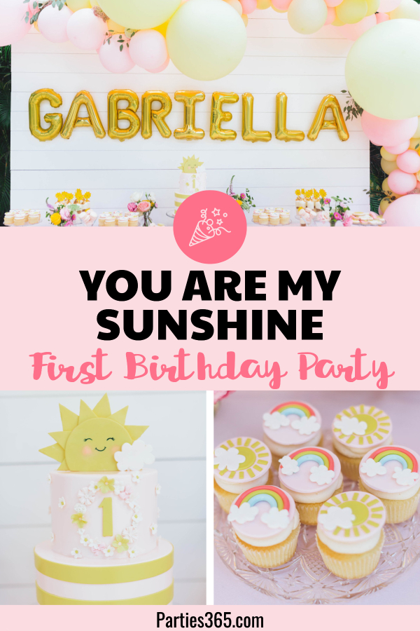 you are my sunshine first birthday party