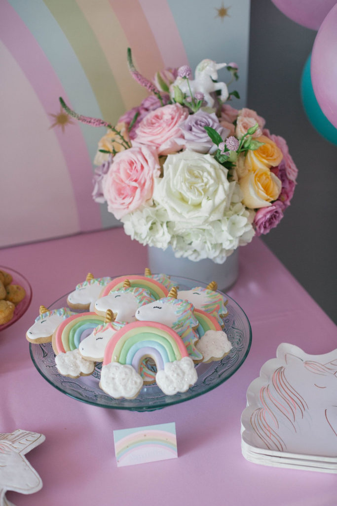 rainbow and unicorn sugar cookies