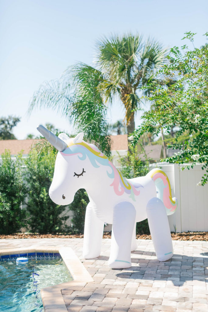 white unicorn giant sprinkler