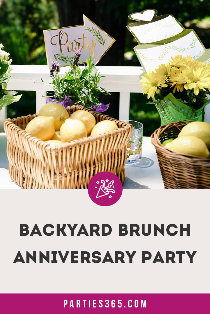 backyard brunch anniversary party
