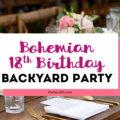 bohemian 18th birthday party