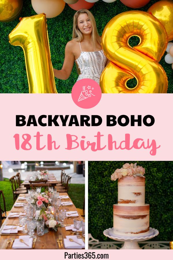 backyard bohemian 18th birthday party
