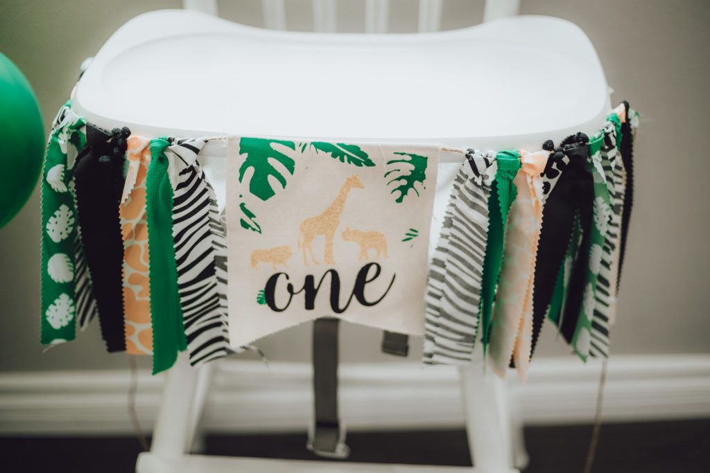 wild one high chair banner