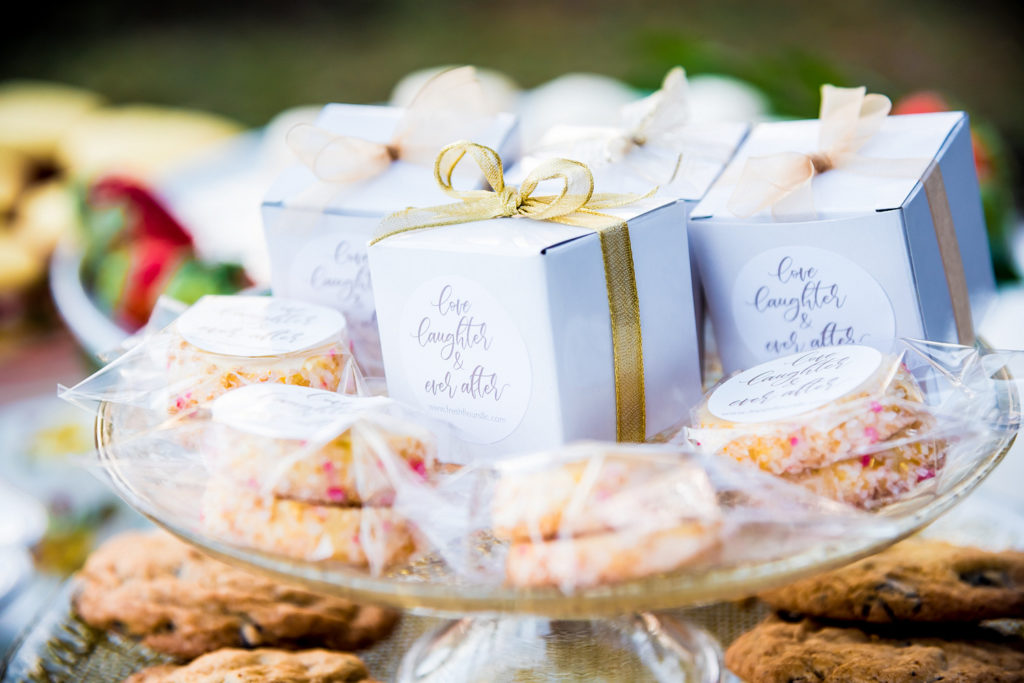 tea party cookie favors and boxes
