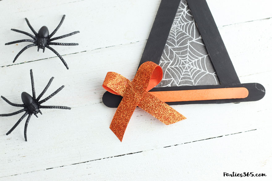orange bow on witch hat craft
