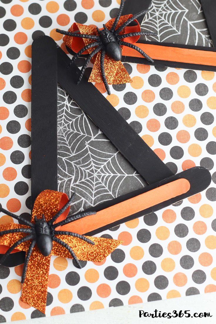 orange and black halloween witch hat craft