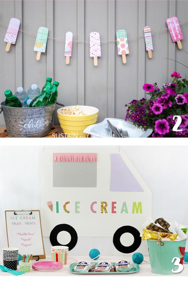 ice cream party decor ideas