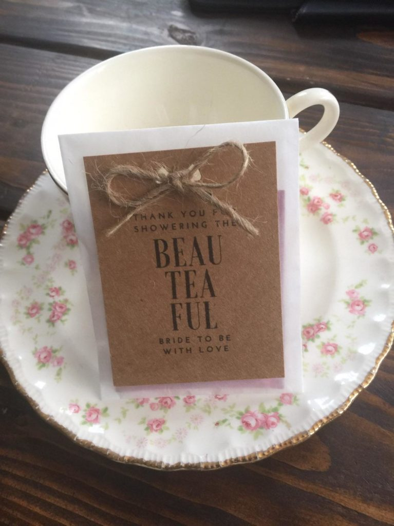 custom bridal shower tea party favor