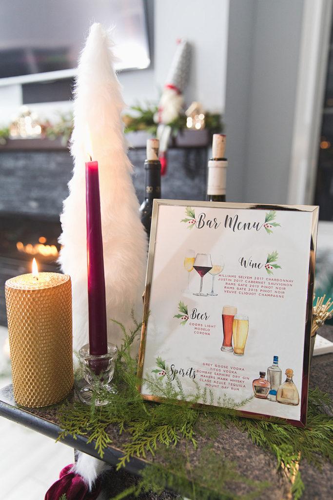 christmas party bar menu