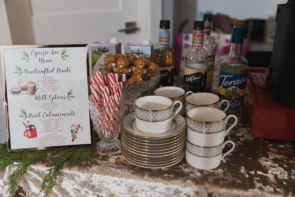 espresso bar menu at christmas party