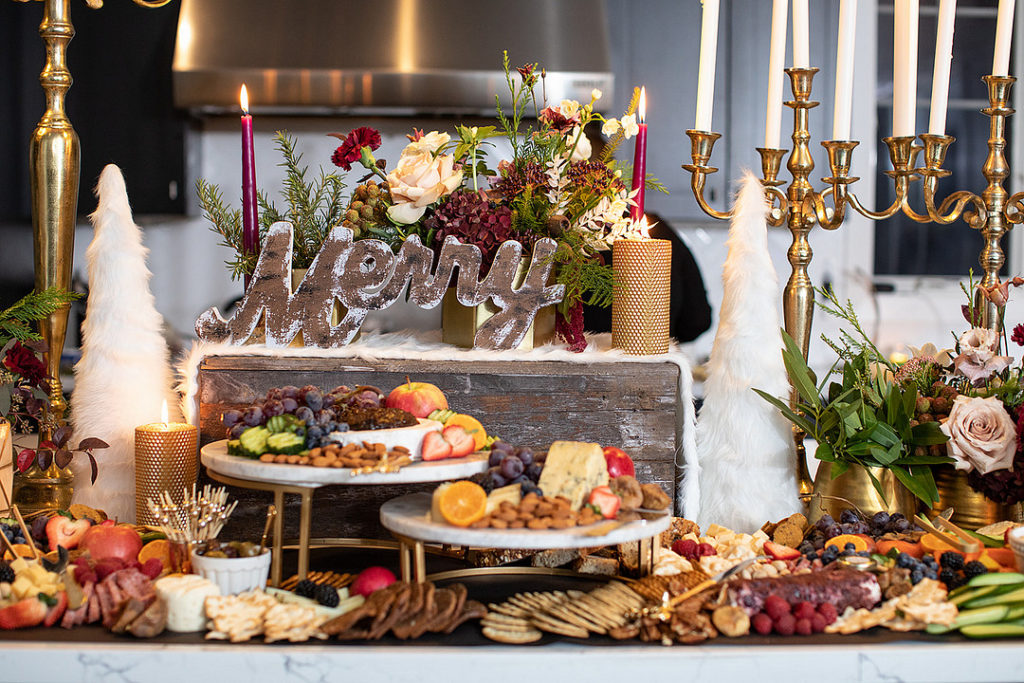 christmas party open house food table ideas