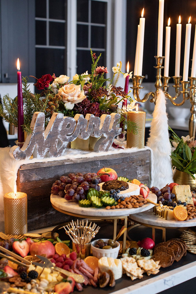 christmas party food table
