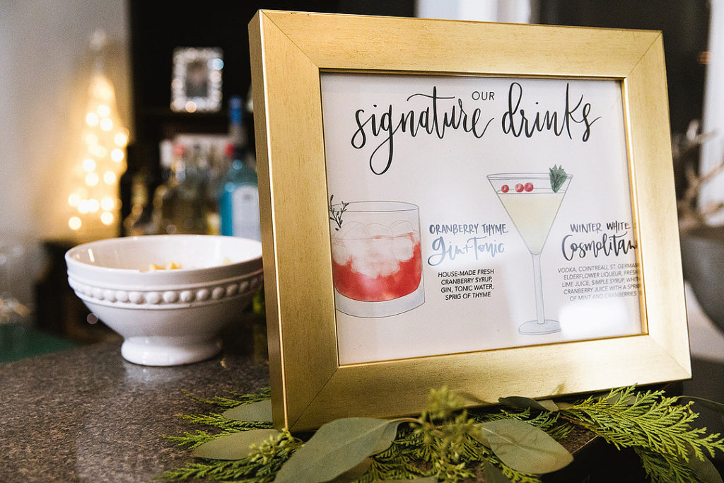 christmas party signature drink menu