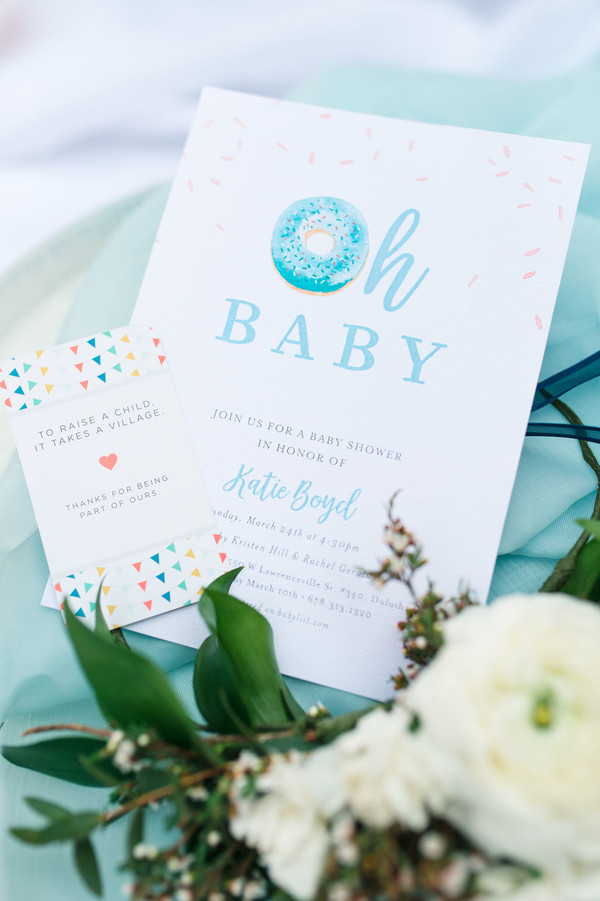 oh baby donut baby shower invitation
