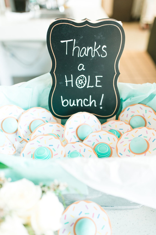 donut themed baby shower party favors