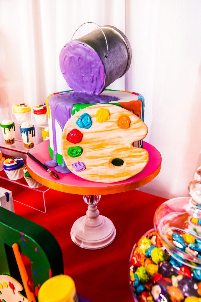 painting party birthday cake