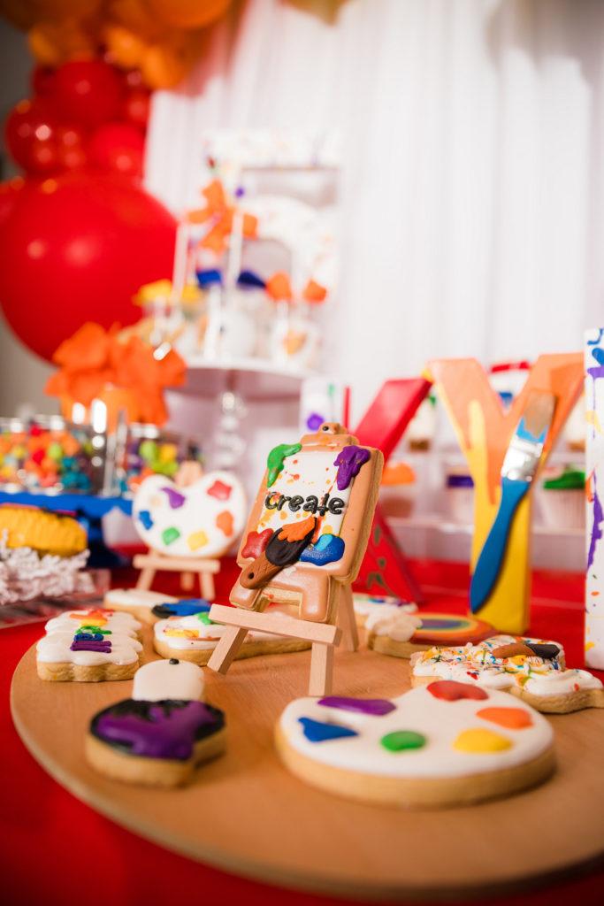 painting party custom sugar cookies