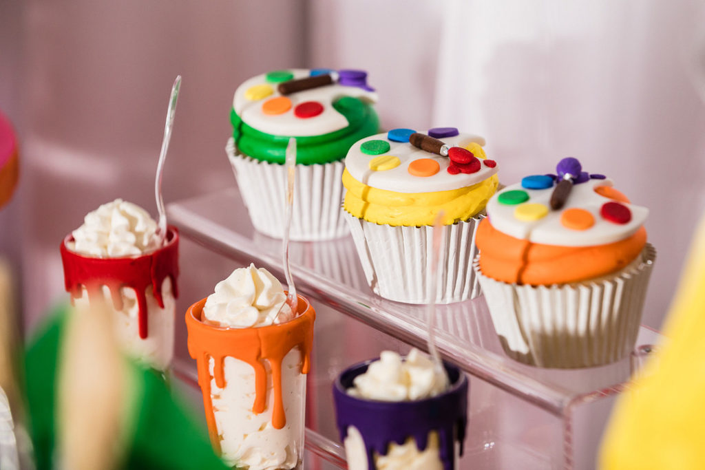 cupcakes for painting party