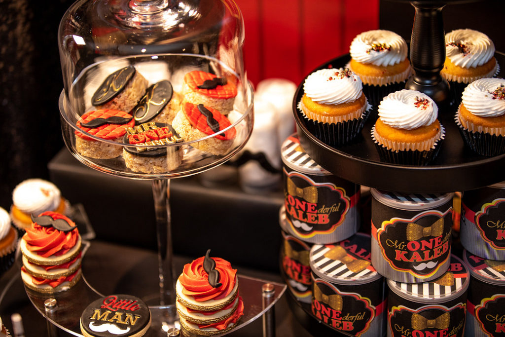 Mr. ONEderful cookies and cupcakes