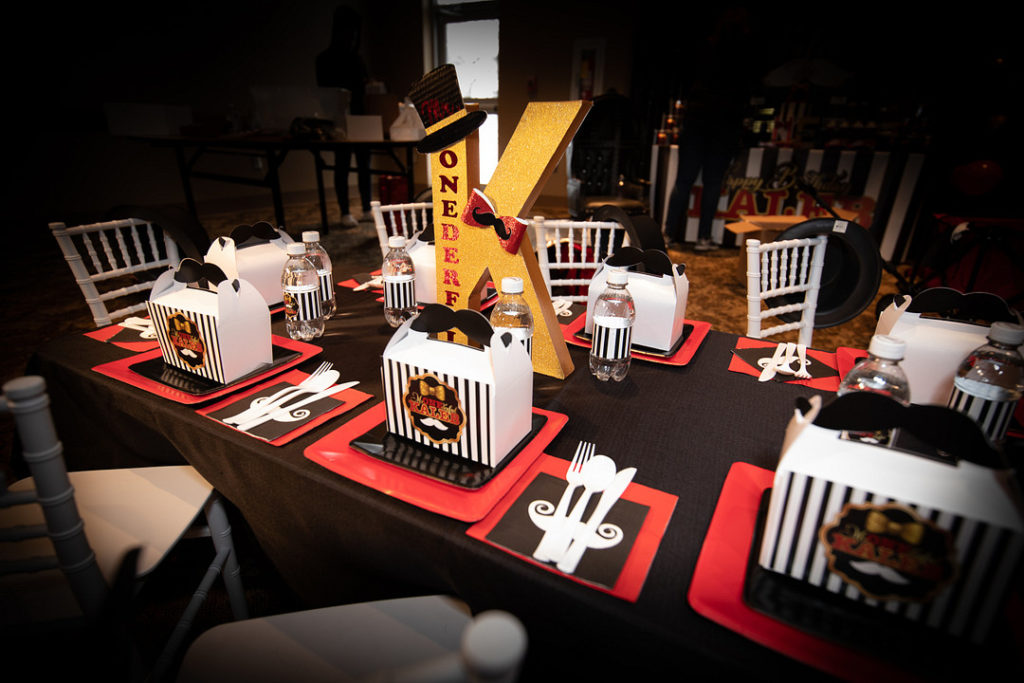 mr. onederful first birthday party table decor