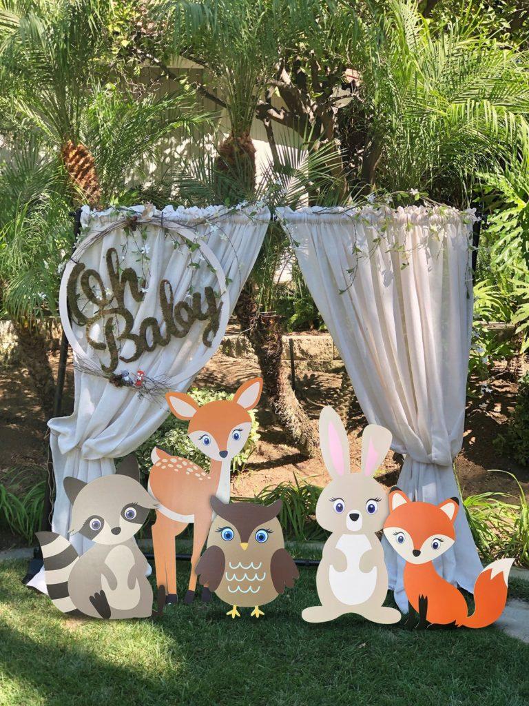 large woodland creature animal cutouts