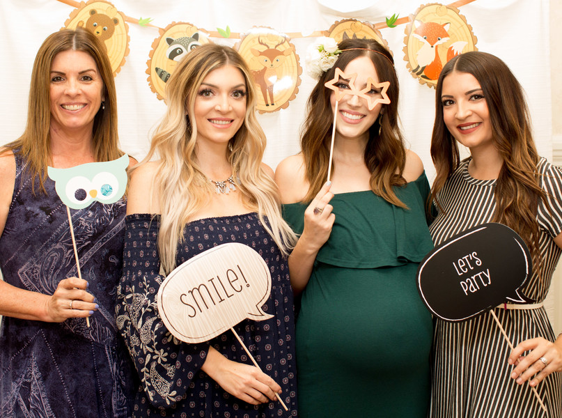 woodland baby shower photo props