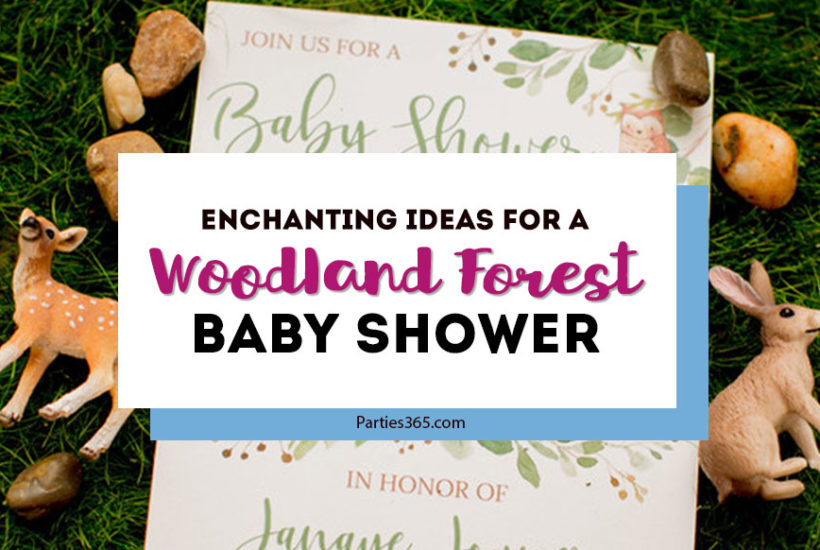 woodland forest baby shower ideas