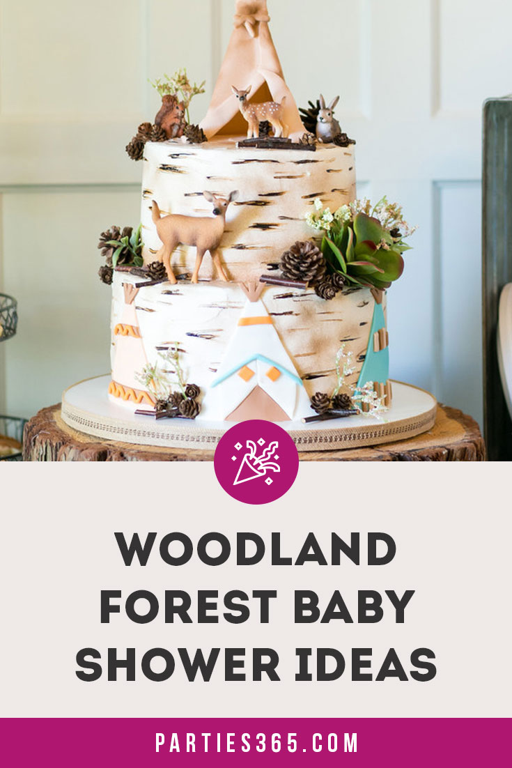 woodland forest baby shower ideas