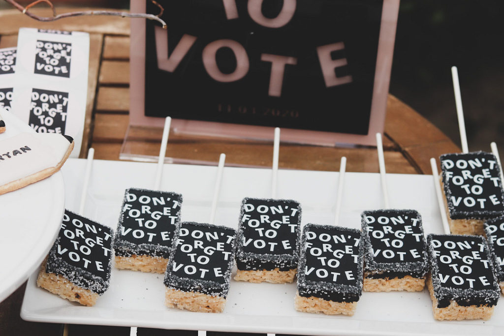 don't forget to vote rice krispie treats