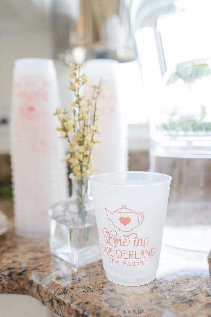 custom alice in onderland party cups