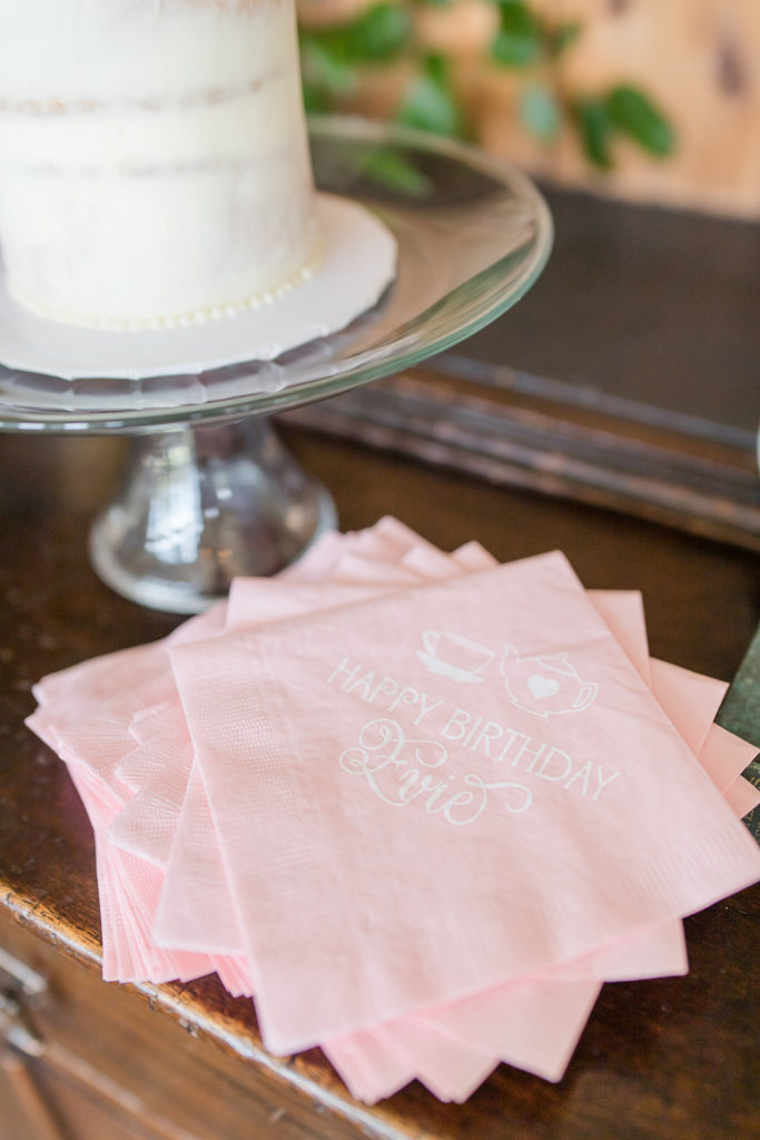 custom party napkins for first birthday