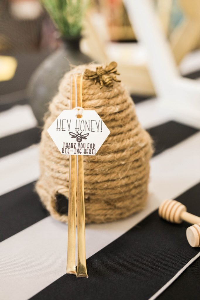 bee themed baby shower party favor honey sticks