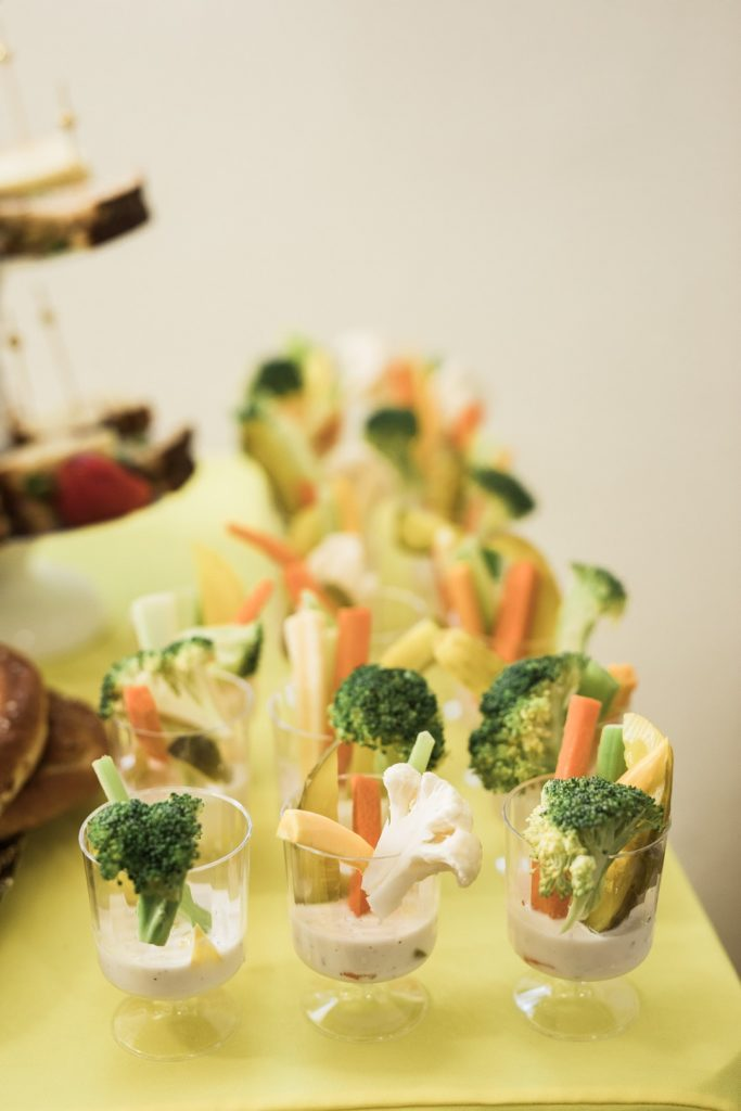veggie cups at baby shower