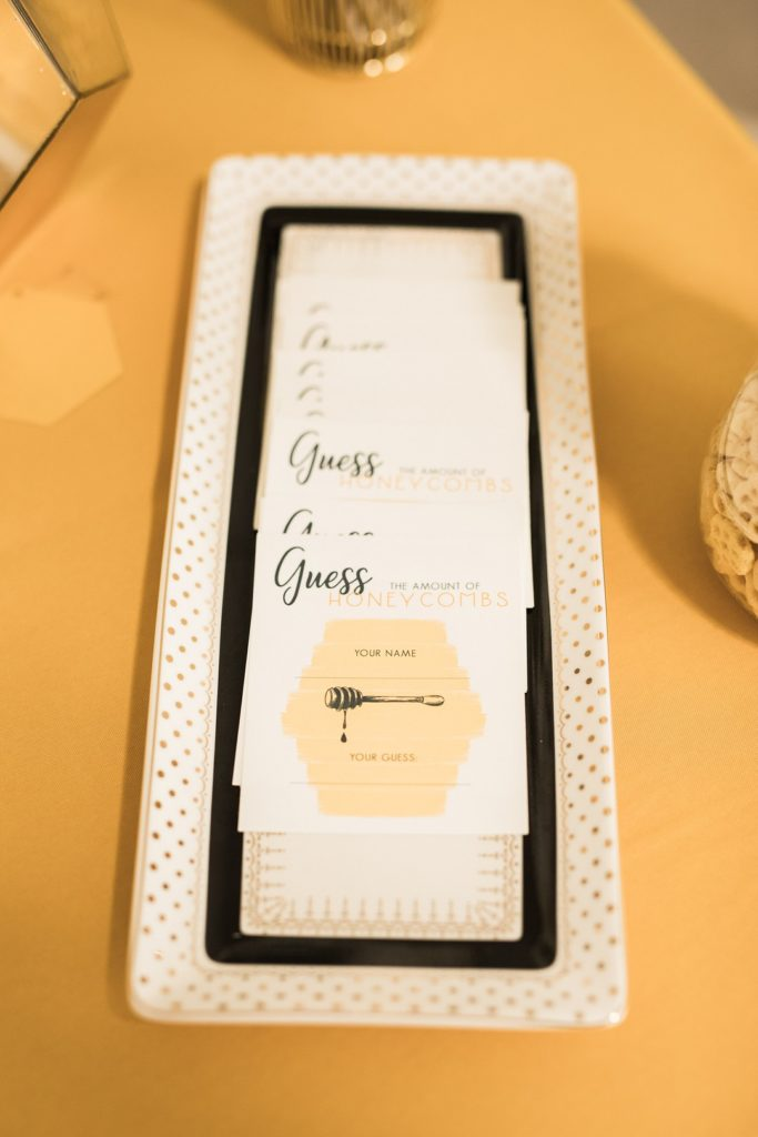 baby shower guessing game cards