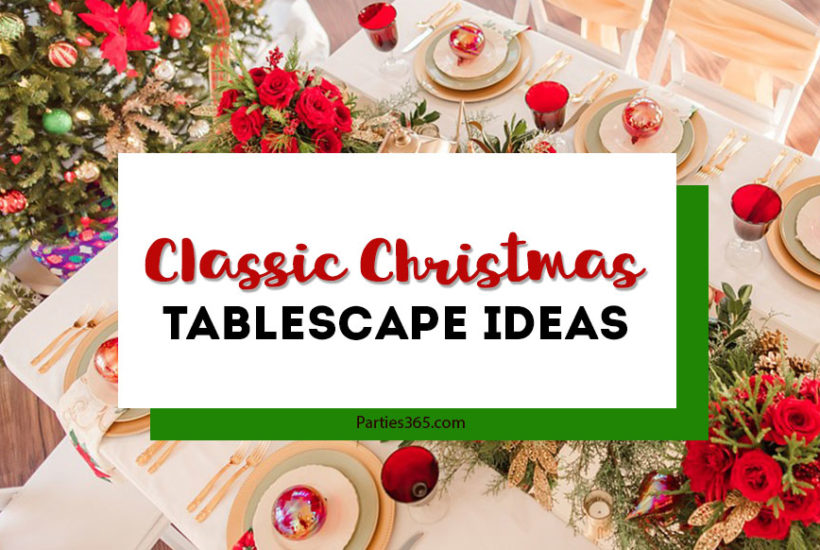classic christmas tablescape ideas