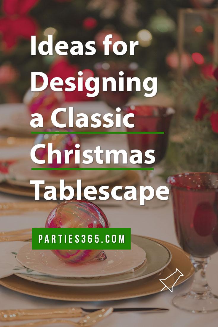 classic christmas tablescape ideas